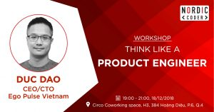 Workshop: Think like a product engineer - Event at Nordic Coder