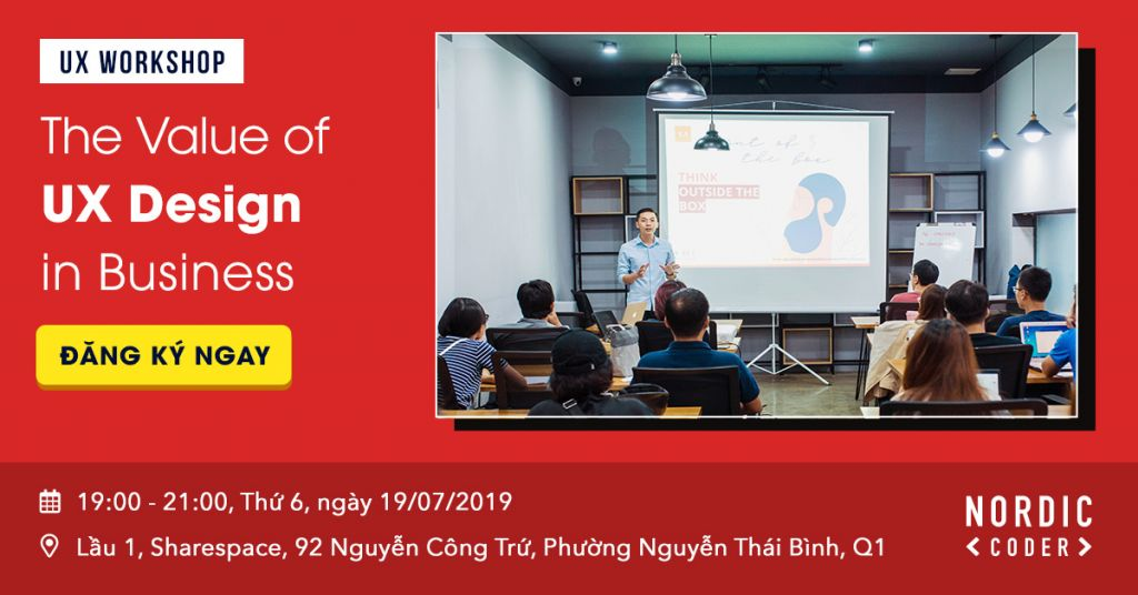 Workshop: The value of UX Design in Business - Sự kiện tại Nordic Coder